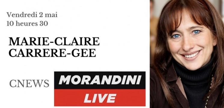 MCCG invitée de l'émission Morandini Live, sur CNews