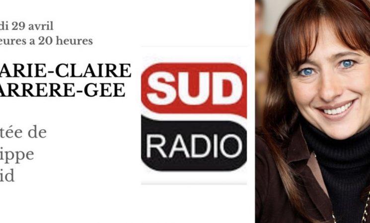 MCCG invitée de Philippe David sur Sud Radio