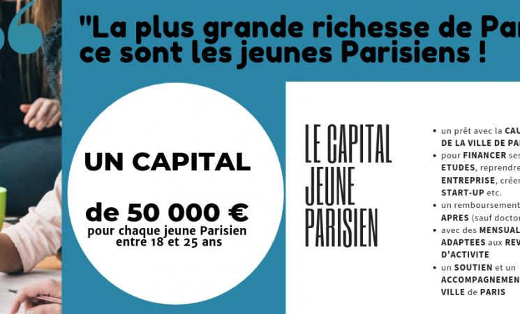 Le Capital Jeune Parisien : ma proposition pour tous les jeunes Parisiens de 18 à 25 ans