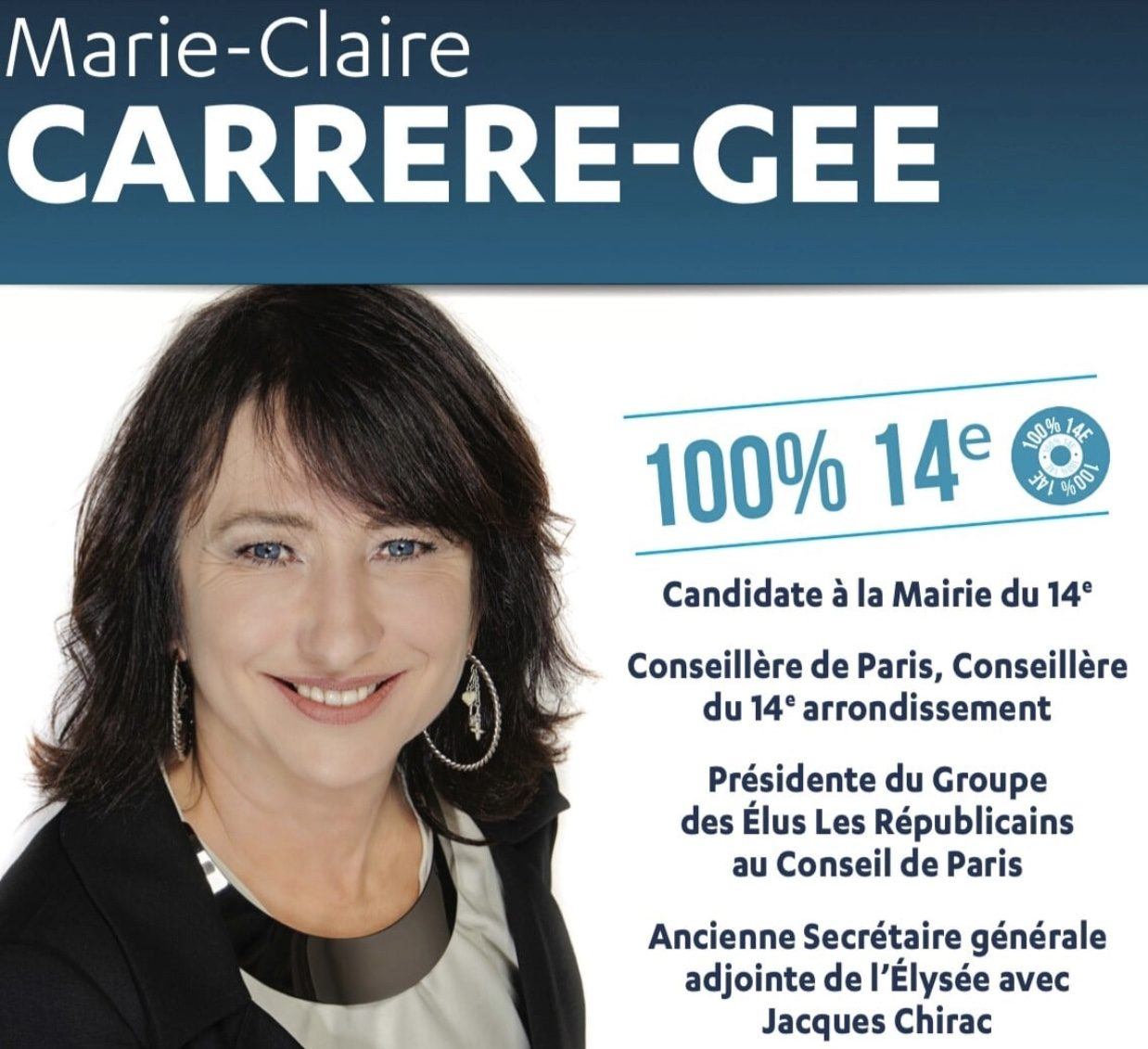 Blog de Marie-Claire Carrère-Gée - Candidate à la Mairie du 14eme arrondissement - Conseillère de Paris, élue du 14e arrondissement - Présidente du Groupe Les Républicains et Indépendants au Conseil de Paris - PARIS 2020 avec Rachida DATI