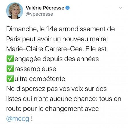 Merci à Valérie Pécresse pour son soutien !